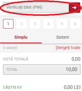 verificare bilet casa pariurilor