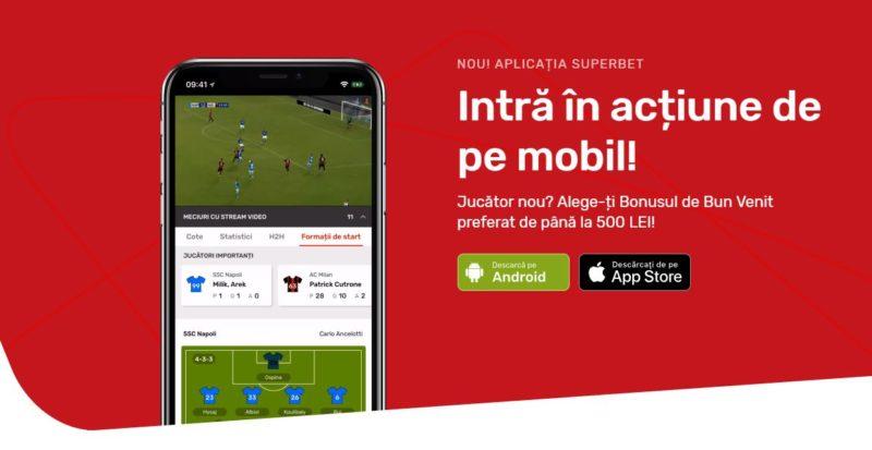 Aplicația Superbet pentru iOS și Android. Pariuri de ultima generație